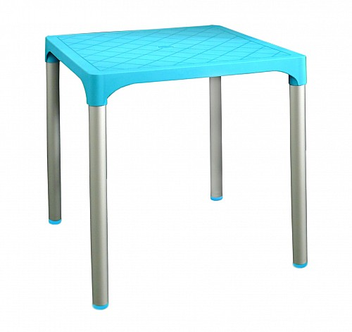 Zahradní plastový stůl VIVA  Světle modrá