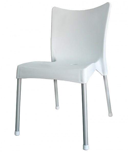 Zahradní plastová židle VITA AL/PP Bílá