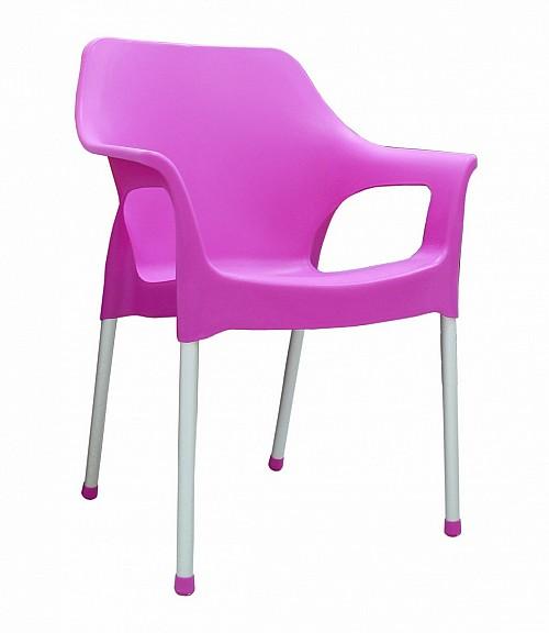 Plastová zahradní židle URBAN AL/PP Růžová