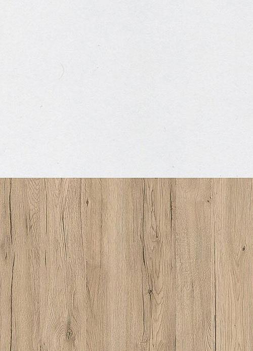 Noční stolek MEADOW  dub san remo/bílá