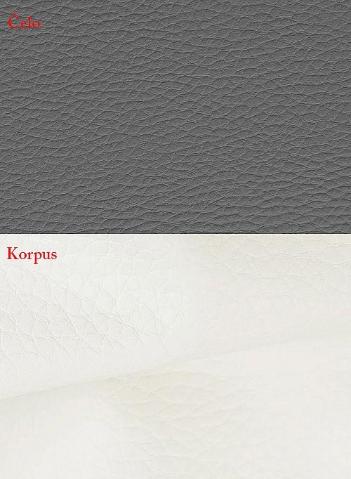 Postel BIBIANA 2 160x200 cm vč. roštu a ÚP eko bílá/šedá