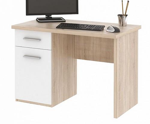 PC stůl OLAF dub sonoma/bílá