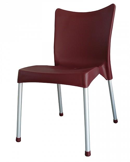 Zahradní plastová židle VITA AL/PP Bordo