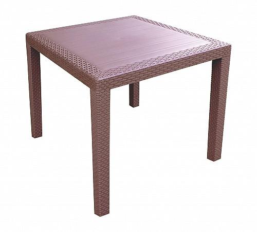 Zahradní stůl s imitací ratanu RATAN LUX  Wenge