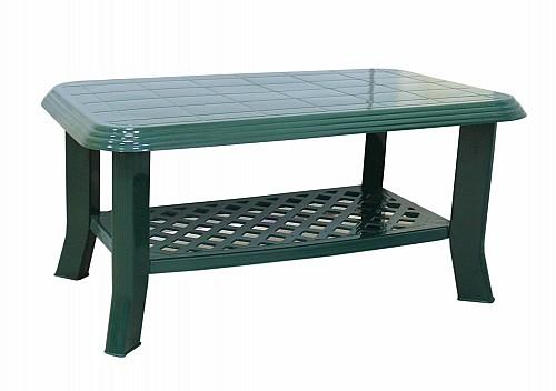 Menší stabilní zahradní stůl CLUB PP 44x55x90 Tmavě zelená