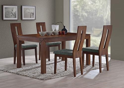Jídelní set MORIS stůl+NELA židle 1+4 dub bělený / látka FX