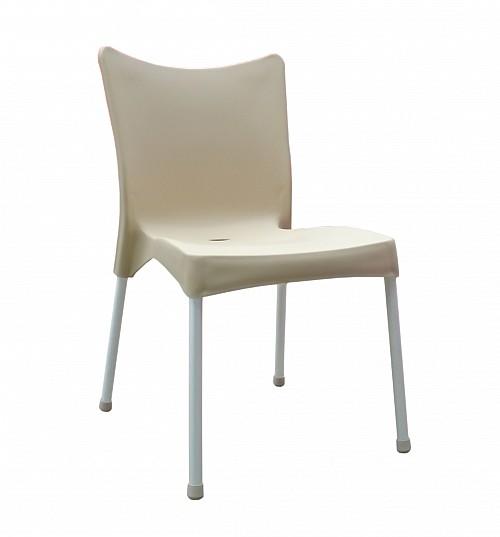 Zahradní plastová židle VITA AL/PP Krém