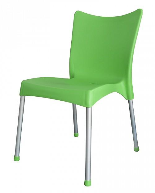 Zahradní plastová židle VITA AL/PP Zelená