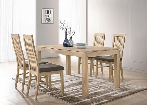 Jídelní stůl MORIS + LAURA židle 1+4 buk