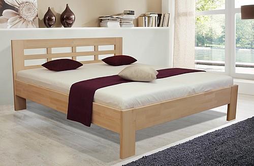 Dvoulůžková masivní postel VANESA 180x200 cm bez roštu a matrace buk
