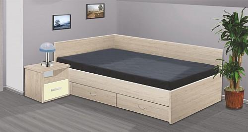 Manželská postel RENÁTA 200x160 vč. roštu, matrace a ÚP san remo 4139