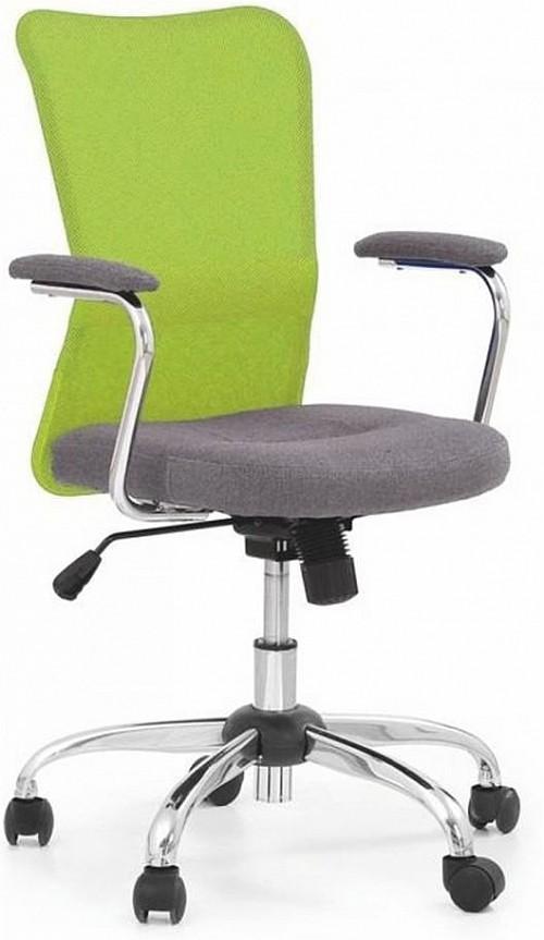 Barevná dětská židle ANDY Zelená / šedá