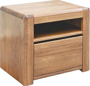 Noční stolek ELANA 2  dub lakovaný