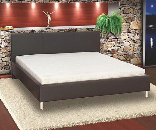 Elegantní manželská postel PUPP 180x200 cm vč. roštu Ekokůže černá
