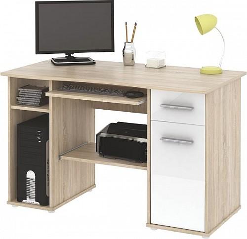 PC stůl SAMUEL dub Sonoma / bílá