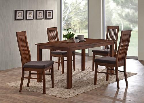 Jídelní stůl EDA+ Jídelní židle LAURA  ořech
