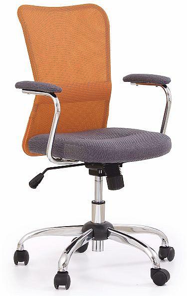 Barevná dětská židle ANDY Oranžová / šedá