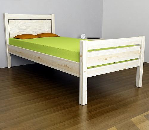 Masivní jednolůžko COLORADO LUX postel 200x90 vč. roštu smrk masiv