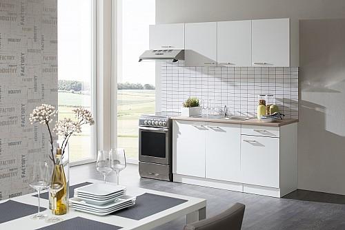 Elegantní kuchyňská linka STELA 210cm Bílá / bílá