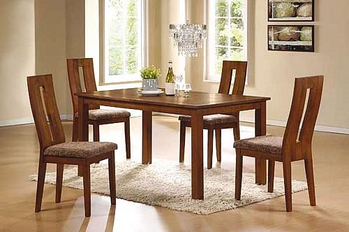 Jídelní stůl EDA + Jídelní židle NELA ořech