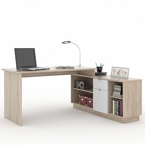 PC stůl VE 02 dub sonoma/bílá