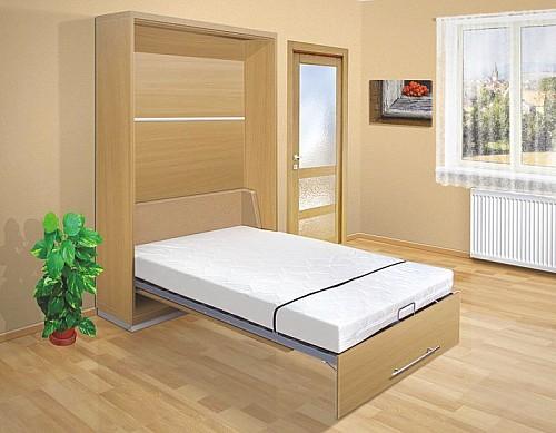 Výklopná postel VS 2054P  140 cm buk