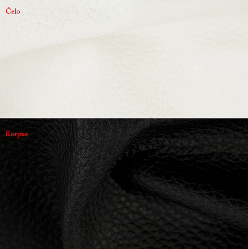 Postel BIBIANA 110 x 200 cm vč. roštu a ÚP eko černá/bílá