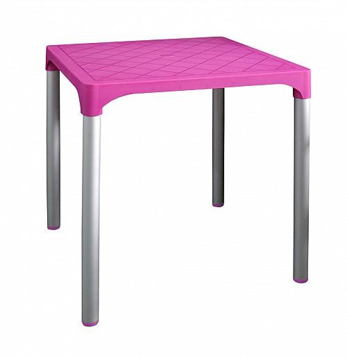 Zahradní plastový stůl VIVA  Růžová