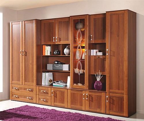Dřevěná obývací stěna BORIS ořech