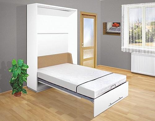 Výklopná postel VS 2054P  140 cm bílá