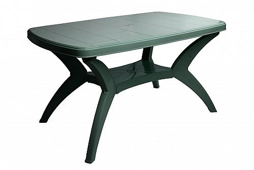 Velký zahradní plastový stůl MODELLO PP 73x75x140 Tmavě zelená
