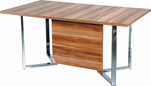 Jídelní stůl VIVIAN ořech / chrom