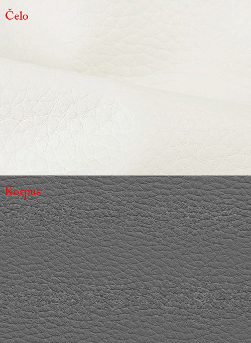 Postel BIBIANA 110 x 200 cm vč. roštu a ÚP eko šedá/bílá