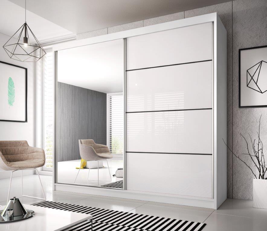 Kasvo MULTI 35 skříň šatní 203 bílá / dveře bílé lamino