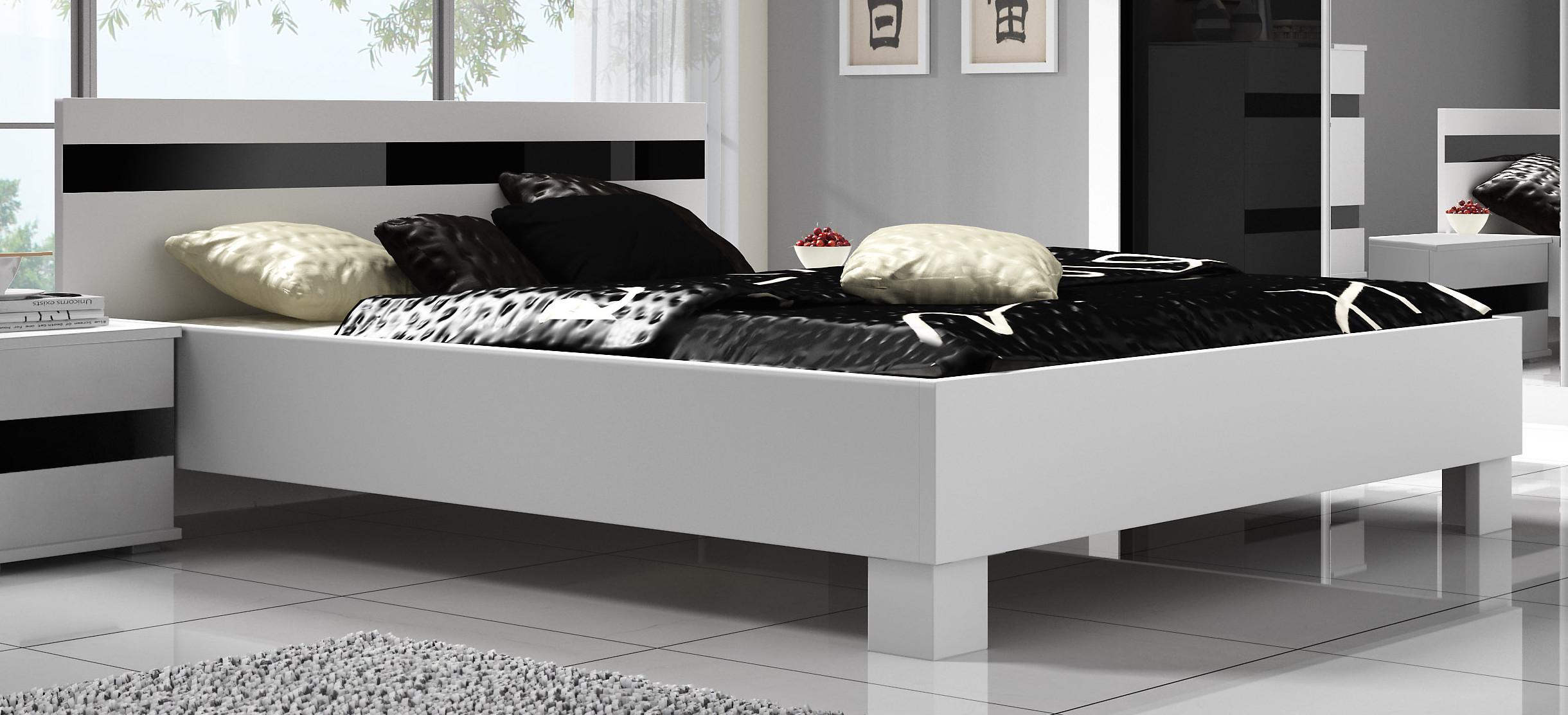 7f15d9c4d1d7 Moderní manželská postel LUCCA 160x200 cm bez roštu a matrace