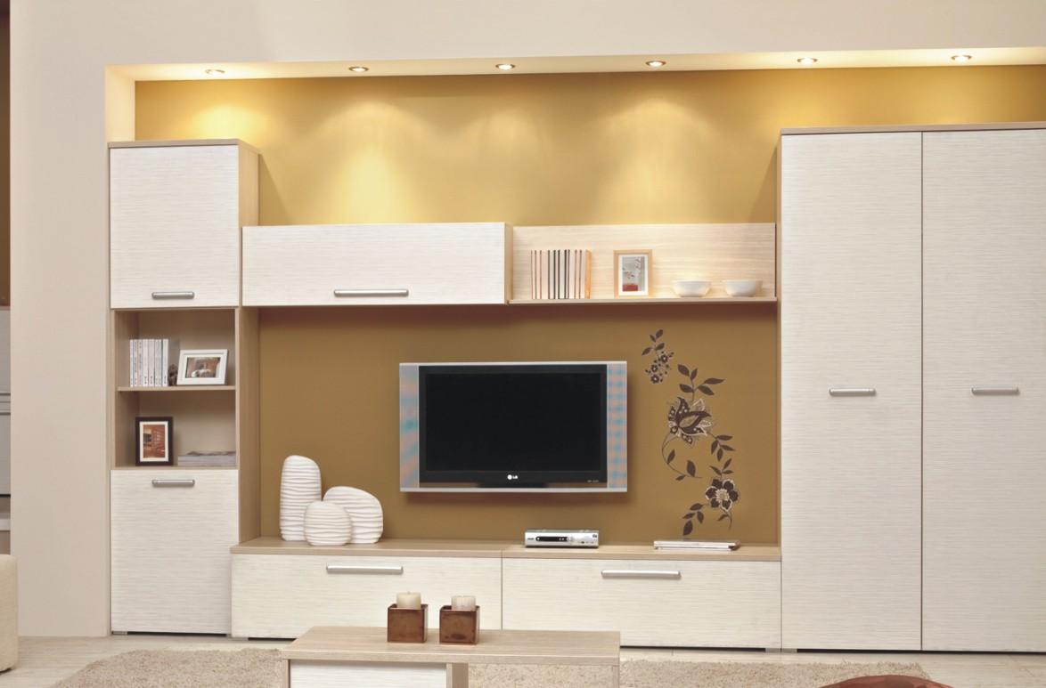 "Obývací stěna PRIMAVERA P3  <span class=""discount""><span style=""color: red;""> SLEVA 40%</span></span>"
