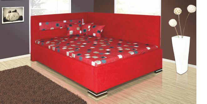 Kasvo MELISSA postel 140x200 cm červená