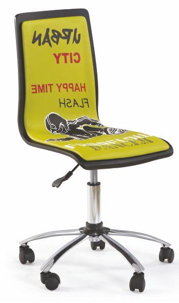 Kasvo FUN kanc.židle ekokůže zelená