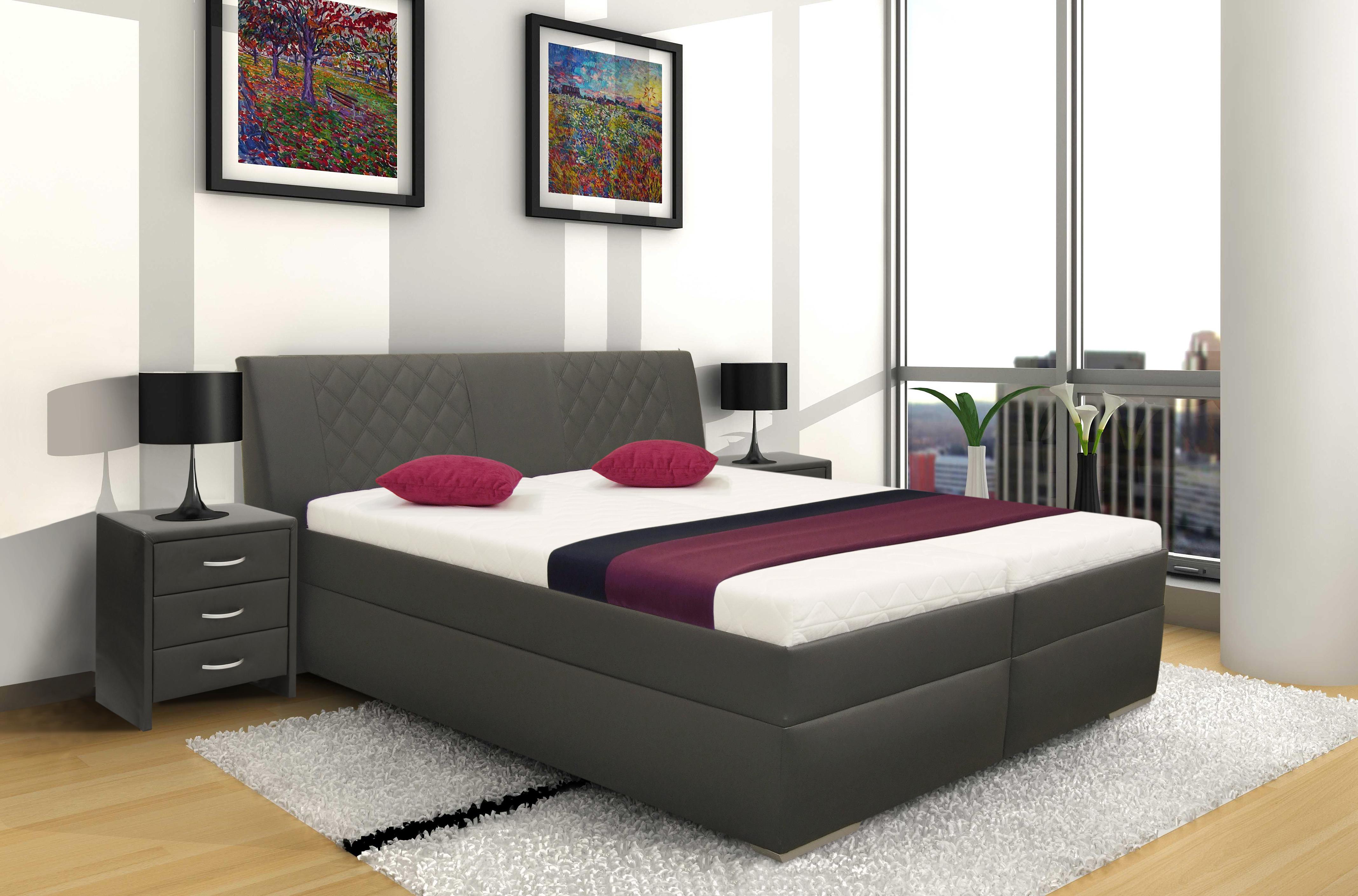 ea8b0ca29db6f Vyšší manželská postel SABA 180x200 cm | Kasvo.cz