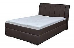 Moderní čalouněná postel BIBIANA 110 x 200 cm vč. roštu a ÚP eko hnědá