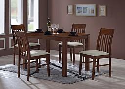 Jídelní stůl VAŠEK + židle VIOLA 1+4 Ořech