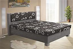 Čalouněná postel NIKOL 120cm vč. roštu, matrace a ÚP šedá/vzor