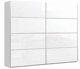 Šatní skříň NEAPEL  bílá/bílá lesk