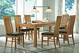 Jídelní stůl BRUNO + židle LAURA 1+4 Buk