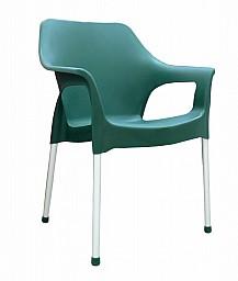 Plastová zahradní židle URBAN AL/PP Tmavě zelená