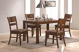 Jídelní stůl VAŠEK + židle EDITA 1+4 Ořech
