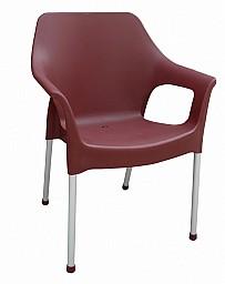 Plastová zahradní židle URBAN AL/PP Bordó