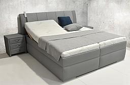 Moderní čalouněná postel BIBIANA 90 x 200 cm vč. roštu a ÚP eko bílá