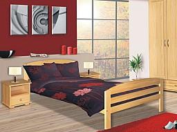 Jednolůžková postel AMÉLIE LUX 90x200cm s roštem  olše