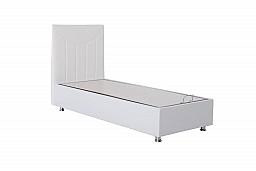 Moderní čalouněná postel BASE 90x200 cm vč. roštu, matrace a ÚP černá